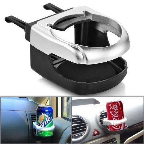 Car Cup Holder Water Bottle Organizer Stand Universal Car RV Truck Air Vent Cup Mount Holder Beige