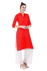 Plain Button Kurti