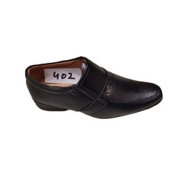 Casual Kids Black Leather Shoes, Size: 11-1