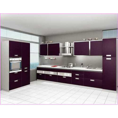 Mobile Home Kitchen Cabinets: White, Purple White And Purple Modular Kitchen Cabinet, Rs
