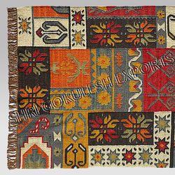 SGE Multicolor Patchwork Jute Carpets