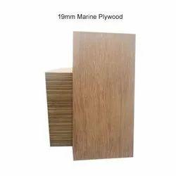 Brown 19mm Marine Plywood, Size: 8 X 4 Feet
