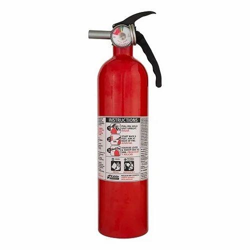Mild Steel Red Fire Extinguisher Dry Powder Type, Capacity: 4Kg