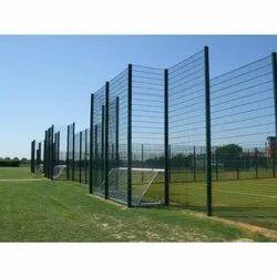 Powder Coated Weld Mesh Fence Mild Steel Fence System