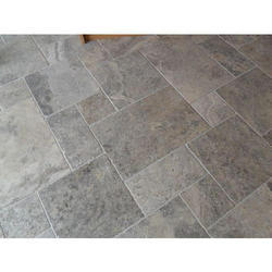 Plain Natural Stone Floor Tiles, Thickness: 15-20 Mm
