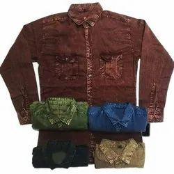 Mens Plain Denim Shirt, Size: M to XXL