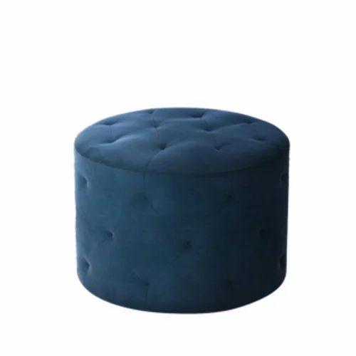 Blue Single Seater Pouffe Sofa