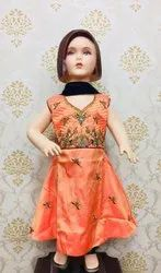 Small Girls Anarkali Churidar Suit for Kids