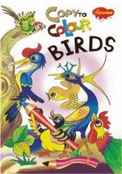 Copy To Colour Birds