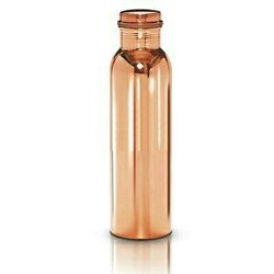 Pure Copper Bacteria Killing Hygienic Water Bottle 1 Litre-CBottle1L
