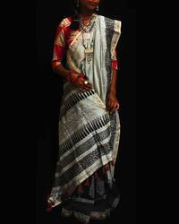 Silk Chanderi Saree, Without Blouse Piece