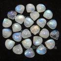 Bindal Gems Gemstone Blue Rainbow Moonstone Heart Cabochon, 4x4 Mm To 20x20 Mm