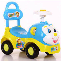 Blue And Green And Pink Toyhouse 4 Wheeler Push Car