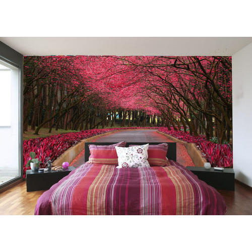 Vertical Pink 3D Bedroom Wallpaper, Rs 1000 /roll, Dezine