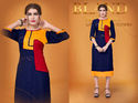 multi colour designer rayon kurti