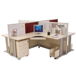 3 Drawers Wood Office Workstation