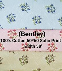 Cotton Satin Print Shirting Fabric (Bentley)