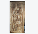 Hingled Interior Designer Curved Teak Door, Size: 6-7 Feet