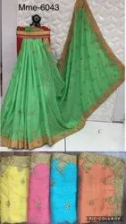 Occasion Wear Saree Collection With Designer Broad Border Lace