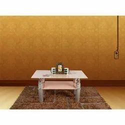 White Rectangular Designer Wooden Center Table for Home