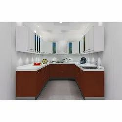 U Shape Residential Modular Kitchen