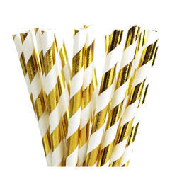 Printed Wrapped Paper Straw
