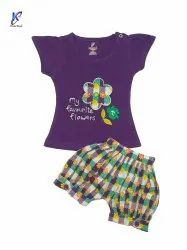 BABY GIRL PRINTED TOP WITH BLOOMER