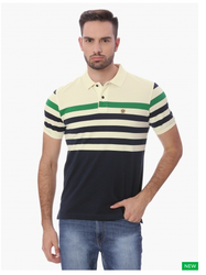 Fahreinheit Striped Pique Polo T-Shirt