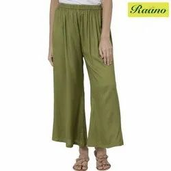 Relaxed Women Green Trousers