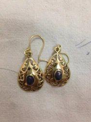 Brass Stone Earring