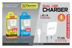Troops Tp- 286 2.1 2usb Square Charger