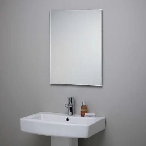 Bathroom Mirrors.60 X 45 Cm Plain Bathroom Mirror Rs 1200 Piece Bath N Beyond