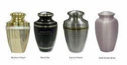 Metallic Garden Urns
