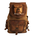 Leather Rucksack Backpack Bag