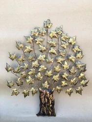 Metal Decorative Golden Tree of Life Wall Decor