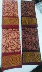 OSP WAX PRINTED Madurai Sungudi Cotton MOSAIC design Saree, Without Blouse, 5.4 MTS