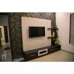 Plywood Modular Designer TV Unit for Hotel, Warranty: 2 Year
