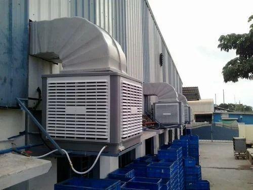 Vajraa Fiber Industrial Evaporative Air Cooler, Capacity: 200 ltr, | ID:  10182875091