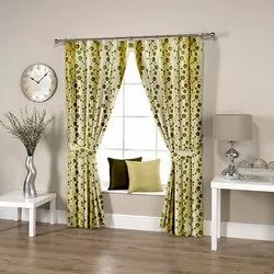 Dotted Green Curtain