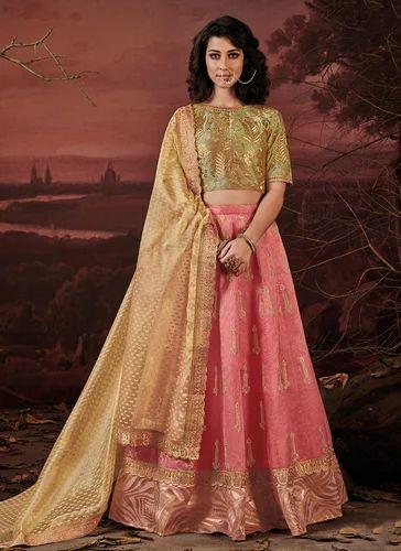 4afee1bb18 Silk Semi-Stitched Designer Party Wear Lehenga, Rs 4577 /piece | ID ...