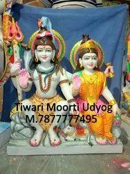 Marble Shiv Parivati Statue