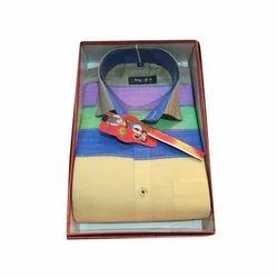 John Philip Cotton/linen Mens Stylish Striped Shirt