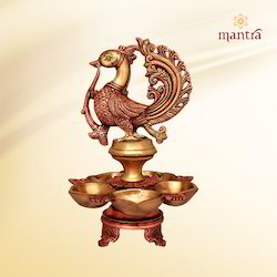 Brass Annam Lamp with Five Deepam