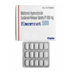 Metformin Hydrochloride Sustained Release 500 mg Tablets