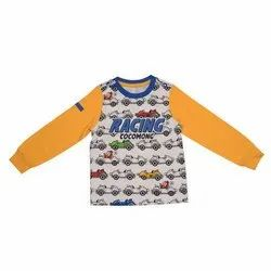 3-7 Years Casual Wear Boys Full Sleeves Cotton T-Shirt