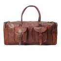 Brown Pristino Leather Travel Duffle Bags