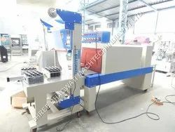 Multipack Machines For To Wraps The Bottles Or Jars Semi Automatic L-Sealer with Shrink Tunnel Machine, GMP Model
