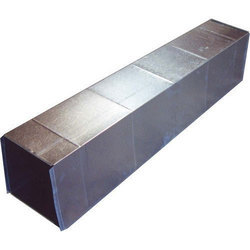 Silver And Galvanized Iron Square AC Duct, Shape: Square