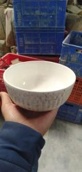 Silver Ceramic Soup Bowl, For Hotel