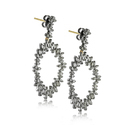 White Baguette Diamonds Designer Earrings